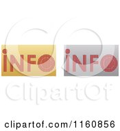 Clipart Of Gold And Silver Info Icons Royalty Free Vector Illustration by Andrei Marincas