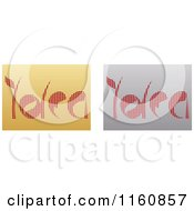 Clipart Of Gold And Silver Idea Icons Royalty Free Vector Illustration by Andrei Marincas