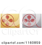 Clipart Of Gold And Silver Film Reel Icons Royalty Free Vector Illustration