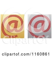 Clipart Of Gold And Silver Email Icons Royalty Free Vector Illustration