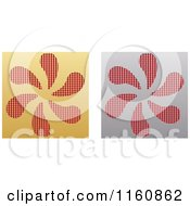 Clipart Of Gold And Silver Fan Icons Royalty Free Vector Illustration