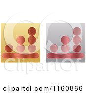 Clipart Of Gold And Silver Chart Icons Royalty Free Vector Illustration by Andrei Marincas