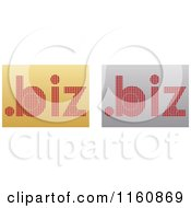 Clipart Of Gold And Silver Dot Biz Icons Royalty Free Vector Illustration by Andrei Marincas