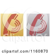 Clipart Of Gold And Silver Telephone Icons Royalty Free Vector Illustration by Andrei Marincas