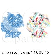 Clipart Of E Commerce Word Collage German Maps Royalty Free Vector Illustration by Andrei Marincas