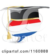 Clipart Of A 3d Graduation Netherlands Flag Chat Balloon Royalty Free Vector Illustration by Andrei Marincas
