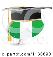 Clipart Of A 3d Graduation Nigeria Flag Chat Balloon Royalty Free Vector Illustration by Andrei Marincas