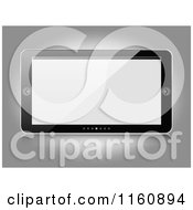 Clipart Of A Tablet With Slide Buttons Royalty Free Vector Illustration