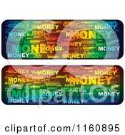 Colorful Word Collage Money Website Banners