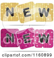 Clipart Of Gold And Pink New Mosaic Designs Royalty Free Vector Illustration