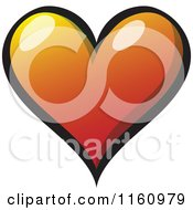 Cartoon Of A Gradient Heart Royalty Free Vector Clipart