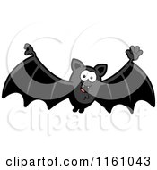 Cartoon Of A Waving Vampire Bat Royalty Free Vector Clipart by Cory Thoman