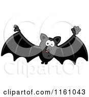 Cartoon Of A Waving Vampire Bat Royalty Free Vector Clipart by Cory Thoman