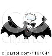 Cartoon Of A Talking Vampire Bat Royalty Free Vector Clipart by Cory Thoman