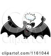 Cartoon Of A Talking Vampire Bat Royalty Free Vector Clipart by Cory Thoman
