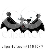 Cartoon Of A Scared Vampire Bat Royalty Free Vector Clipart by Cory Thoman