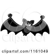 Cartoon Of A Mad Vampire Bat Royalty Free Vector Clipart by Cory Thoman