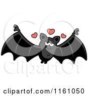 Cartoon Of An Amorous Vampire Bat Royalty Free Vector Clipart by Cory Thoman