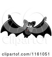 Cartoon Of An Evil Vampire Bat Royalty Free Vector Clipart by Cory Thoman