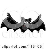 Cartoon Of An Evil Vampire Bat Royalty Free Vector Clipart by Cory Thoman