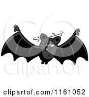 Cartoon Of A Drunk Vampire Bat Royalty Free Vector Clipart by Cory Thoman