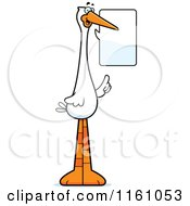 Cartoon Of A Talking Stork Mascot Royalty Free Vector Clipart by Cory Thoman