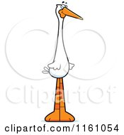 Cartoon Of A Happy Stork Mascot Royalty Free Vector Clipart by Cory Thoman