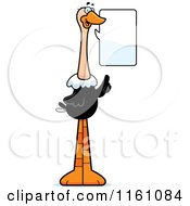 Cartoon Of A Talking Ostrich Mascot Royalty Free Vector Clipart by Cory Thoman