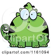 Cartoon Of A Surprised Chameleon Lizard Mascot Royalty Free Vector Clipart by Cory Thoman