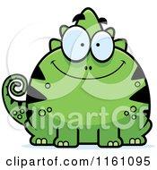 Happy Chameleon Lizard Mascot