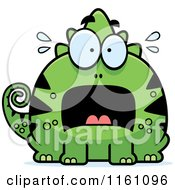 Cartoon Of A Scared Chameleon Lizard Mascot Royalty Free Vector Clipart by Cory Thoman