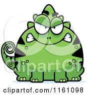 Cartoon Of A Mad Chameleon Lizard Mascot Royalty Free Vector Clipart by Cory Thoman