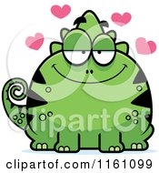 Cartoon Of An Amorous Chameleon Lizard Mascot Royalty Free Vector Clipart by Cory Thoman
