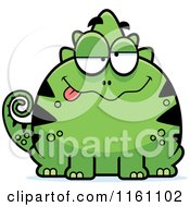 Cartoon Of A Drunk Chameleon Lizard Mascot Royalty Free Vector Clipart by Cory Thoman