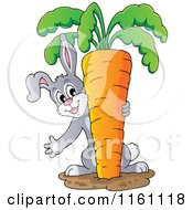 Rabbit Pulling A Giant Carrot