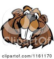Happy Beaver Mascot Face