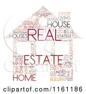 Clipart Of A Real Estate House Word Collage Royalty Free CGI Illustration