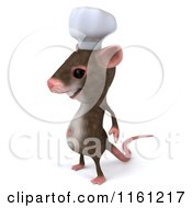 3d Chef Mouse Standing And Facing Left