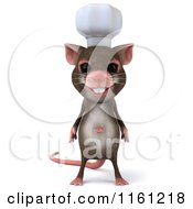 3d Chef Mouse Standing And Facing Front