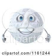 3d Happy Golf Ball Mascot