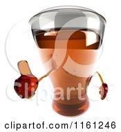 Clipart Of A 3d Beer Mug Mascot Holding A Thumb Up Royalty Free CGI Illustration