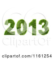 Clipart Of A 3d Grassy 2013 New Year Royalty Free CGI Illustration