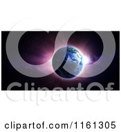 Clipart Of A 3d Earth With The Sunrise Royalty Free CGI Illustration