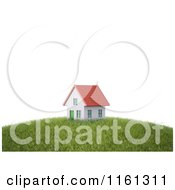 Clipart Of A 3d House With A Red Roof On Top Of A Hill Royalty Free CGI Illustration by Mopic