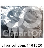 Clipart Of A 3d Abstract Silver Metal Background Royalty Free CGI Illustration