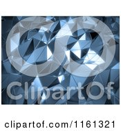 Clipart Of A 3d Abstract Blue Metal Background Royalty Free CGI Illustration