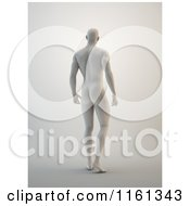 Clipart Of A Rear View Of A 3d Male Sculpture Royalty Free CGI Illustration