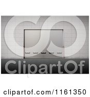 Clipart Of A 3d Cargo Delivery Gate With The Door Down Royalty Free CGI Illustration