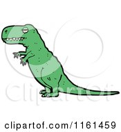 Cartoon Of A Green Tyrannosaurus Rex Royalty Free Vector Illustration