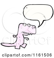Cartoon Of A Talking Pink Tyrannosaurus Rex Royalty Free Vector Illustration by lineartestpilot